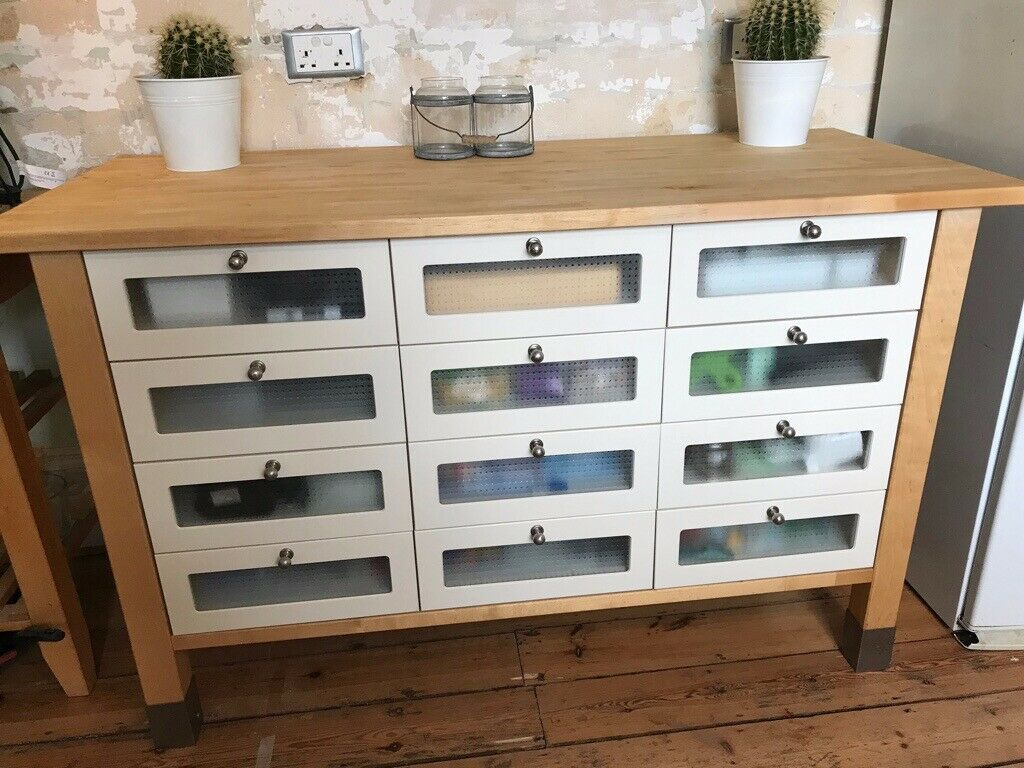 Ikea Varde kitchen unit with 12 drawers | in Merstham, Surrey | Gumtree