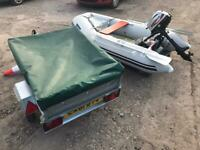 Seago rib mariner 3.5 outboard and box trailer