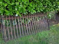 Wrought iron fence.