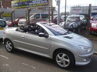 Peugeot 206 cc Allure,1587 cc convertible,full leather interior,runs and drives well,summer's here