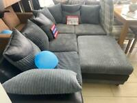 BRAND NEW CORNER SOFAS WITH LARGE POUFEE. £499