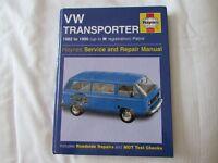 USED HAYNES WORKSHOP MANUAL V W TRANSPORTER PETROL 1982-1990