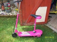 Kids pink & yellow electric scooters - collect ng6