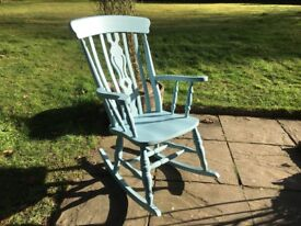 Hand Painted Solid Pine Rocking Chair
