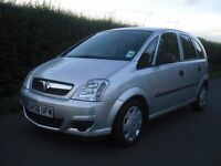 Vauxhall Meriva 1.4 low milege only 34000 miles, 5 door manual