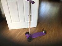 Purple tri scooter