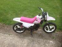 Yamaha pw50 kids motorbike