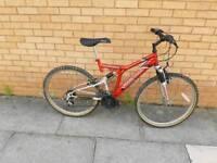 Aggressor mountain bike with full suspension