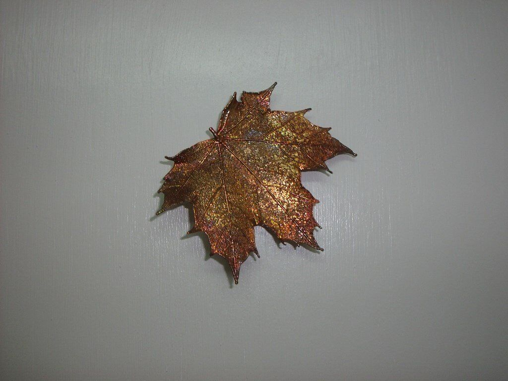 Hand crafted-Maple Leaf Brooch