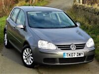 IMMACULATE! (2007) VOLKSWAGEN GOLF 1.6 MATCH FSI 115BHP 5dr -FULL SERVICE HISTORY- FINANCE AVAILABLE