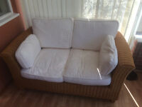 Wicker sofa and chair for Conservatory