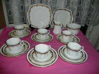 Phoenix Bone china Tea Set 22 pieces