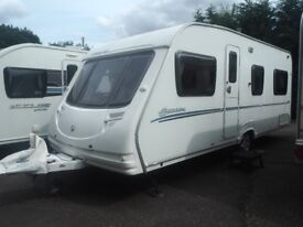 Sterling Europa 2008 Fixed Bed 4 Berth Caravan- With Full awning