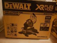 BRAND NEW DCS777T2 54V Mitre Saw with 2x 6.0Ah batteries & charger.