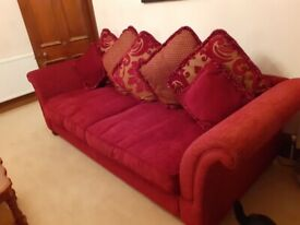 Large sofa & X2 armchairs