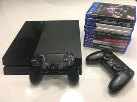 Ps4 500gb with 2 controllers and games