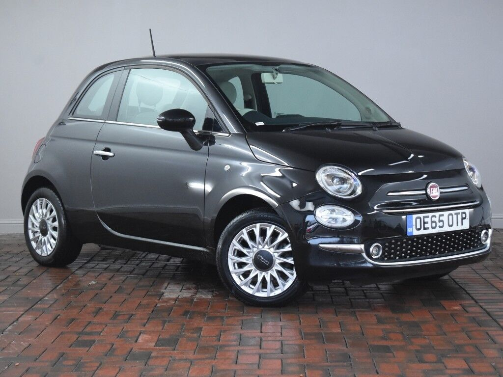 fiat 500 1 2 lounge 3dr black 2015 in winsford cheshire gumtree. Black Bedroom Furniture Sets. Home Design Ideas