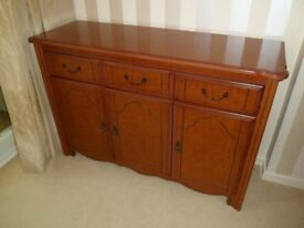 Gorgeous Mahogany 3 Draw 3 Door Side Board