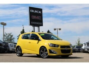 2015 Chevrolet Sonic RS Turbo| Sun| Heat Leath/Suede Seat| Rem S