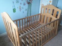 Mama and Papas wooden cot bed