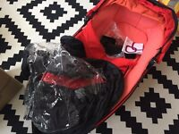Quinny Foldable Carrycot with adaptor, only used once