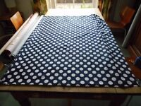 100% cotton blue spot on white fabric