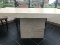 Beautiful marble dining table seats 6 from sterling furniture