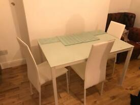 Matching set dining table & coffee table