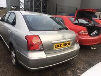 2007 Toyota avensis, 2.0 diesel, breaking for parts only, all parts available
