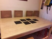 larg table with 4 chairs. possibility of transport if it is not far away.