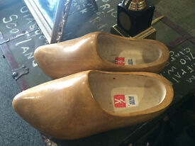 Very Nice Vintage Wooden Hand Carved Dutch Clogs/Shoes