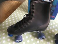 Roller Skates. Chicago Brand (American) Size 8 Mens Black Leather look