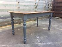 Restored antique farmhouse dining table