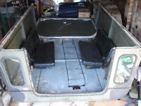 Land rover series 3 109/lwb parts, hardtop, nato roof rack & ladder, 2 folding rear seats,