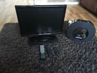 19 inch TV with separate DVD player and Docking Station