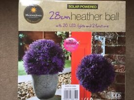 ( New and Sealed ) Solar Powered Heather Ball 28cm