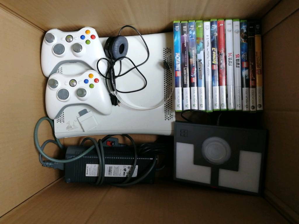 XBox 360 with 2 wireless controlers and Lego dimensions +games | in  Sutton-in-Ashfield, Nottinghamshire | Gumtree