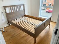Ikea HEMNES Grey Brown Double Bed Frame - Good Condition, Manchester Collection