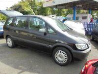 VAUXHALL ZAFIRA 1598cc LIFE 7 SEATER 5 DOOR MPV, 2005-05, BLACK, 115K FROM NEW