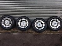 Set of 4 Alloy Wheels & Tyres For BMW 5 Series (E34) May Fit Other Vehicles