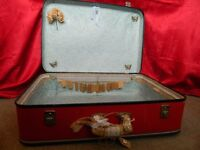 Vintage Suitcase Wedding Prop, Cards