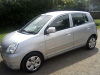 KIA PICANTO 1-1 LX 5-DOOR 2005 (55 PLATE) 135k MILES, OVER 12 MONTHS MOT, VERY GOOD CONDITION.