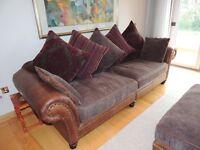 Barnes (Hudson) Leather / Fabric 4pc suite