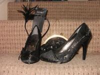Shoes,bag and fasinator