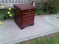 Stag Minstrel Bedside Cabinet with Pull-Out Slide