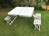 4 seater camping table & chairs