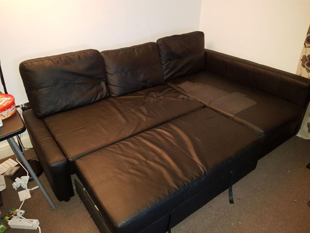 ikea friheten bomstad black sofa bed in south east. Black Bedroom Furniture Sets. Home Design Ideas