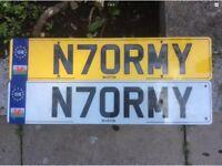 Private number plate N70RMY NORMAN NORMA