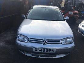 2000 VOLKSWAGEN GOLF S TDI (MANUAL DIESEL) for parts only