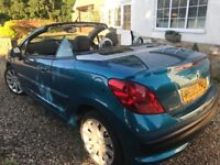 2009 Peugeot 207 GT HDi Turbo Diesel 2 Door Cabriolet, in Aquamarine Blue Metallic